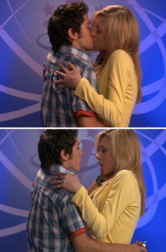 """Phil and Keely kissing in """"Phil of the Future"""""""