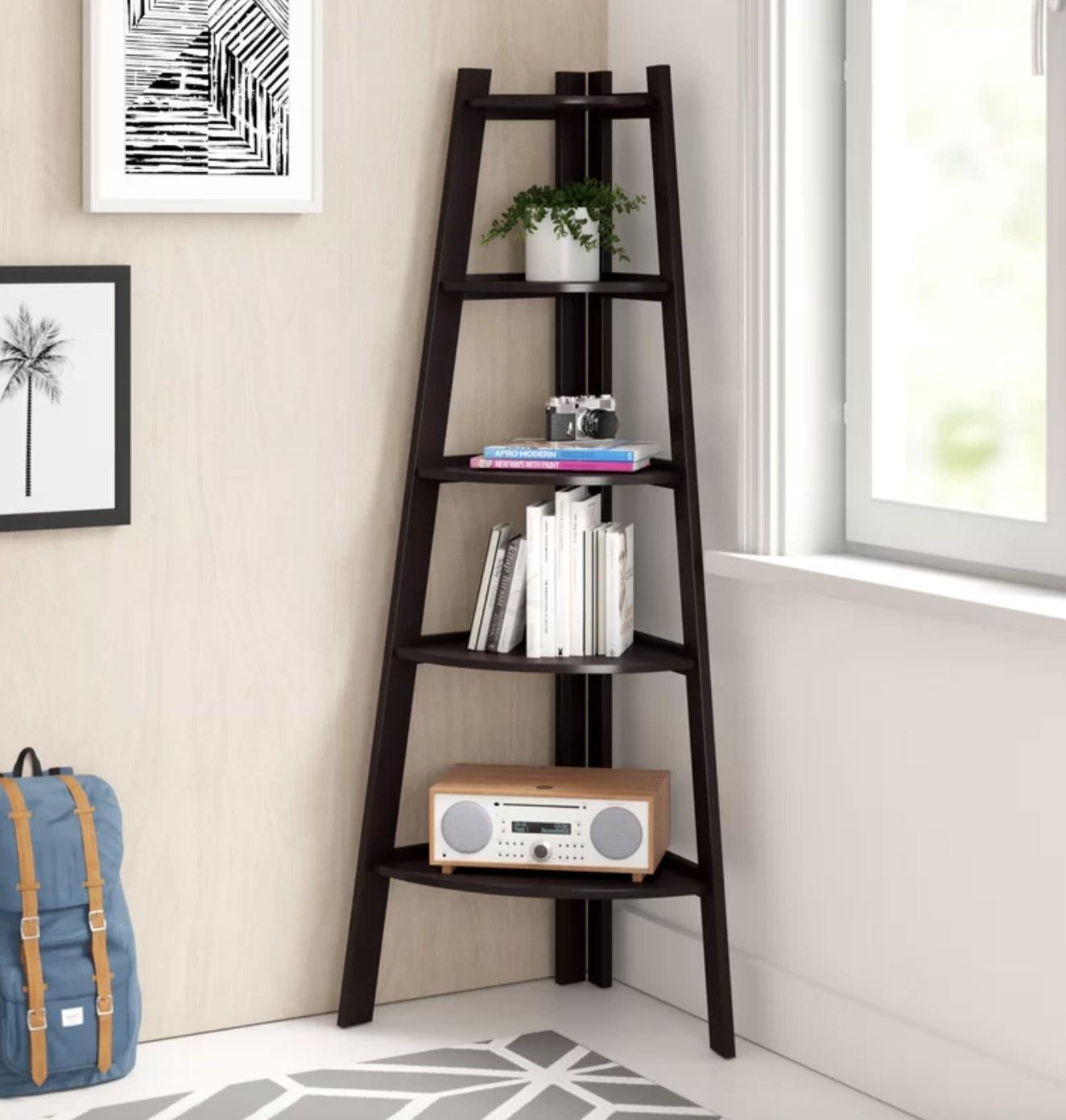 the bookcase in espresso/brown