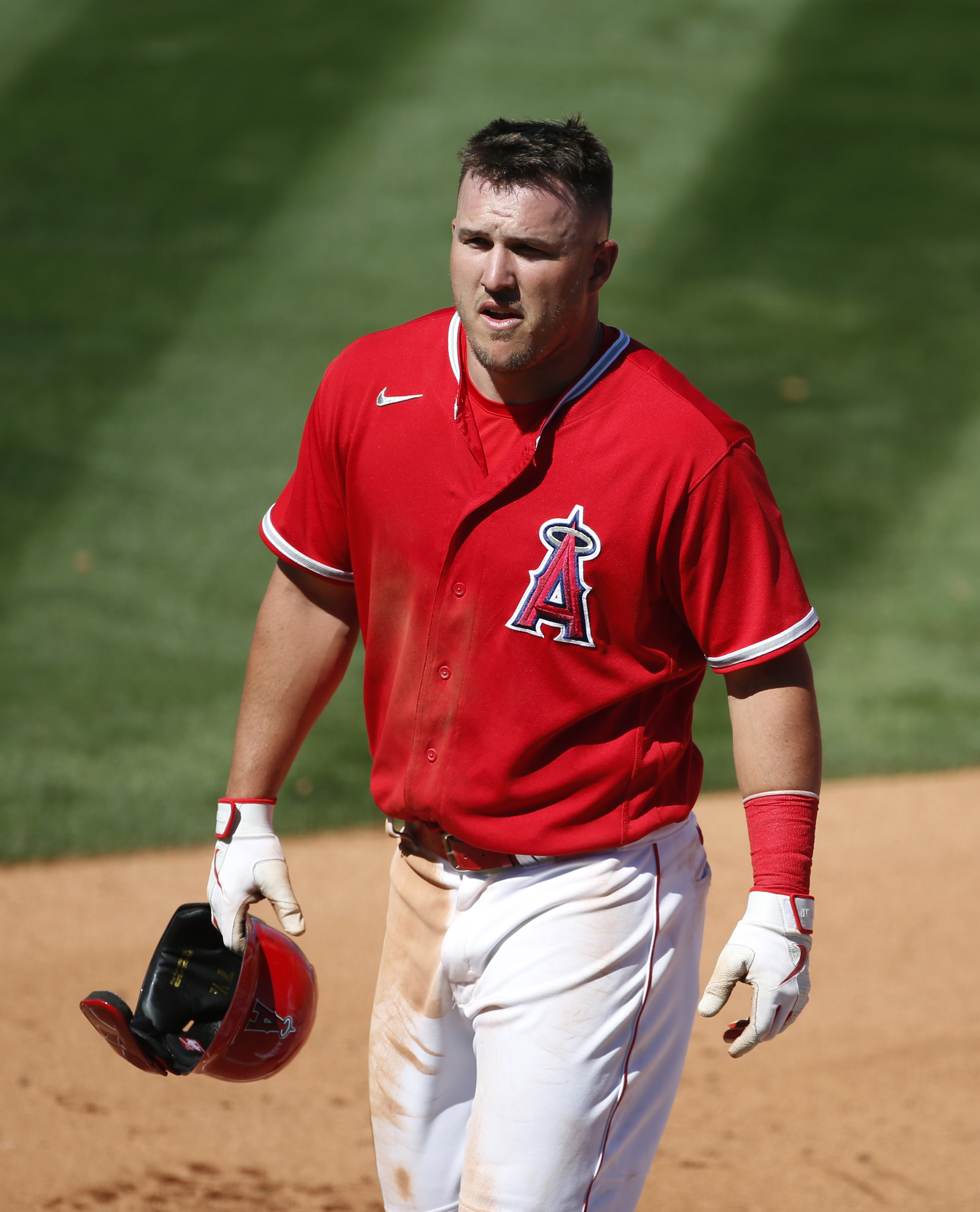 Present day Mike Trout in Angels uniform.