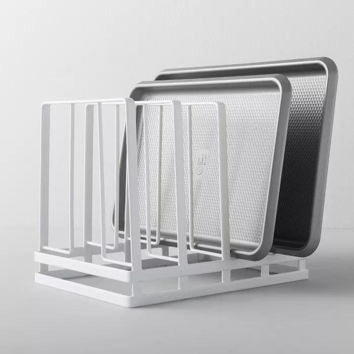 The white, metal frame