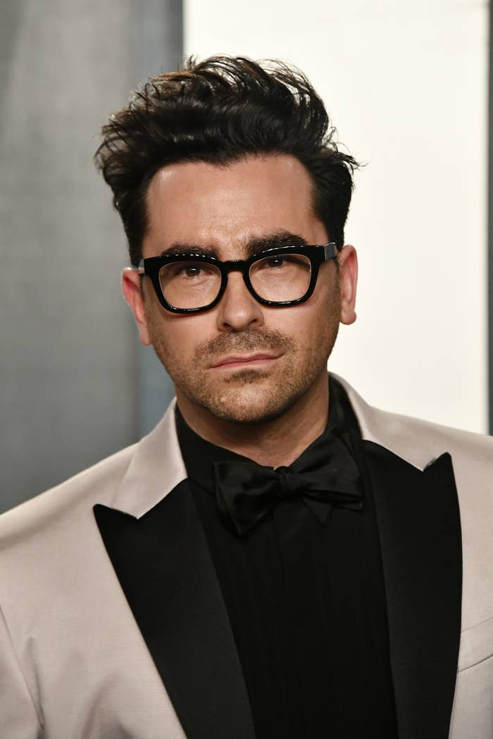 Dan Levy at the 2020 Vanity Fair Oscar Party