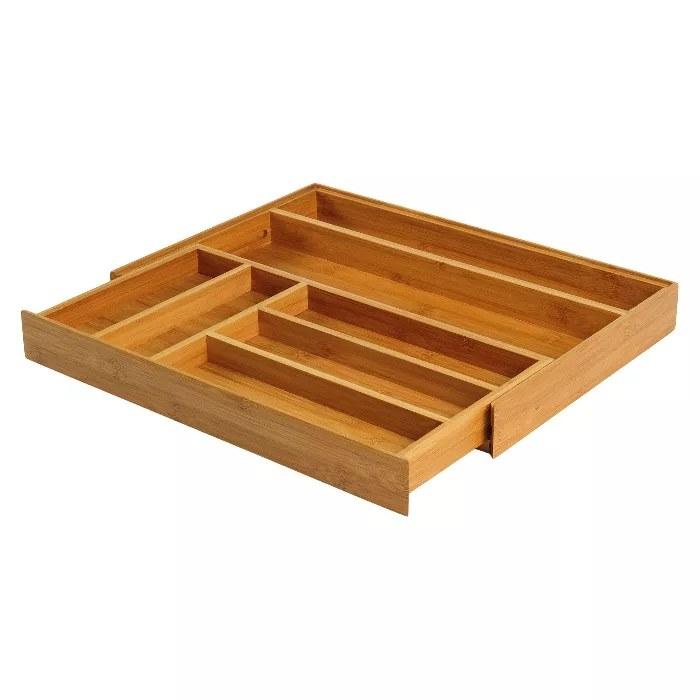 The bamboo drawer organizer