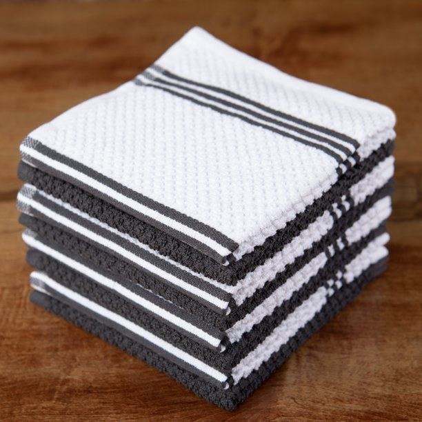 gray and white cloths