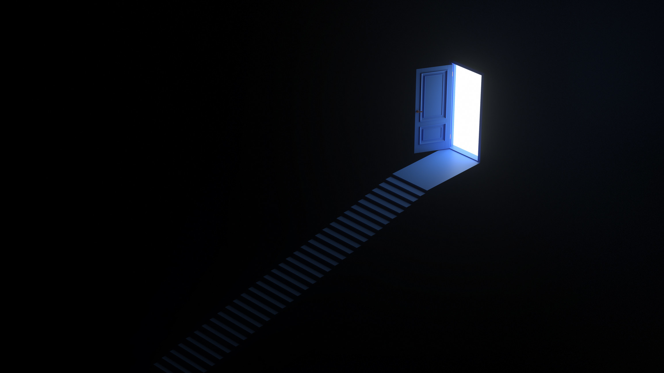 A stairway leading into darkness