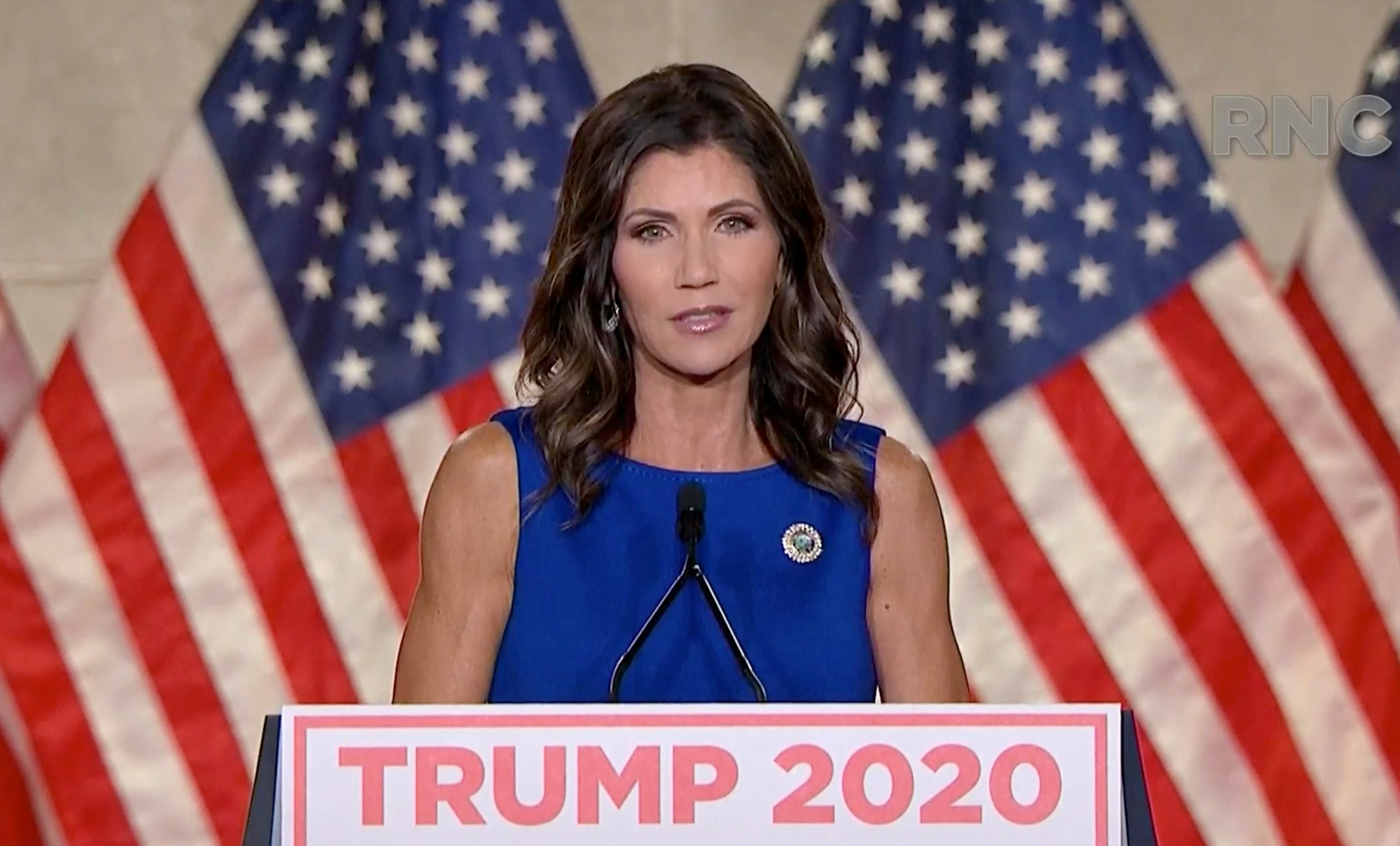 Kristi speaking at the Republican National Convention in 2020