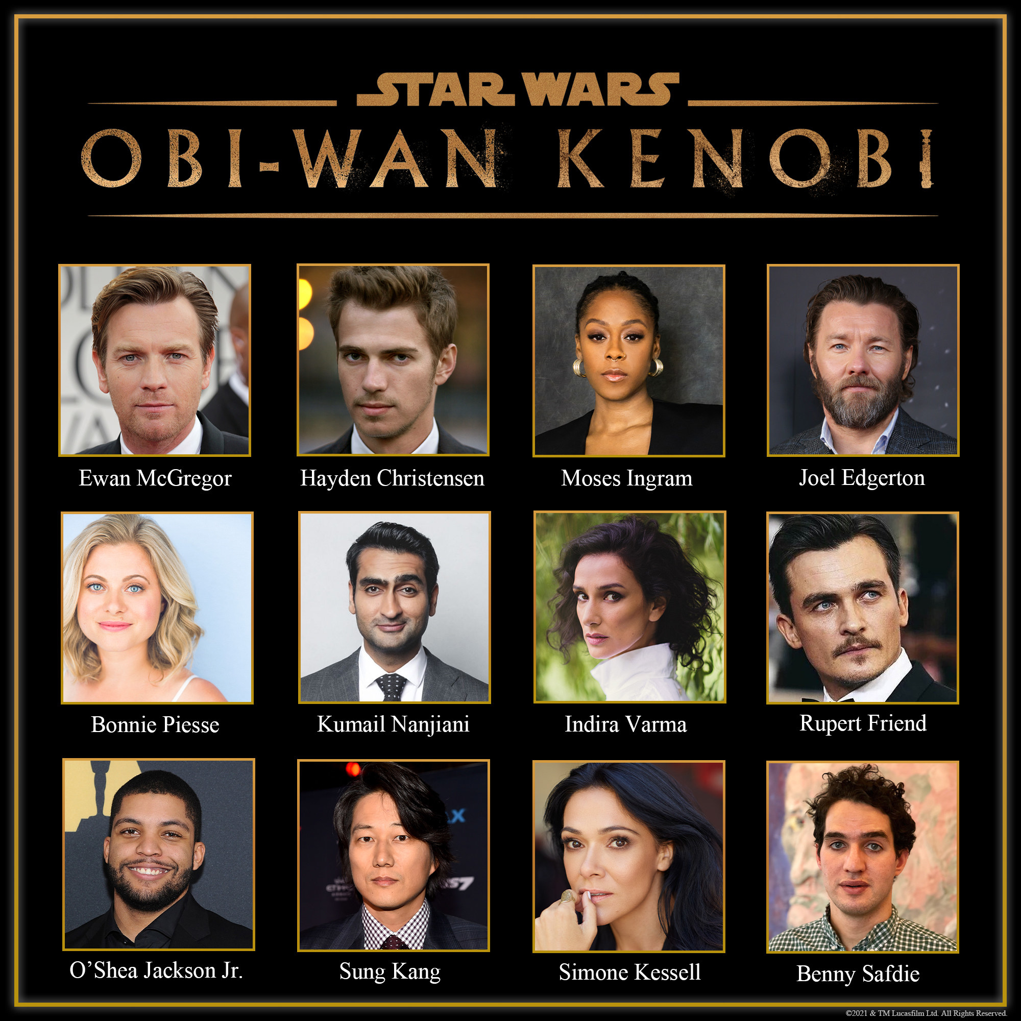 The cast list