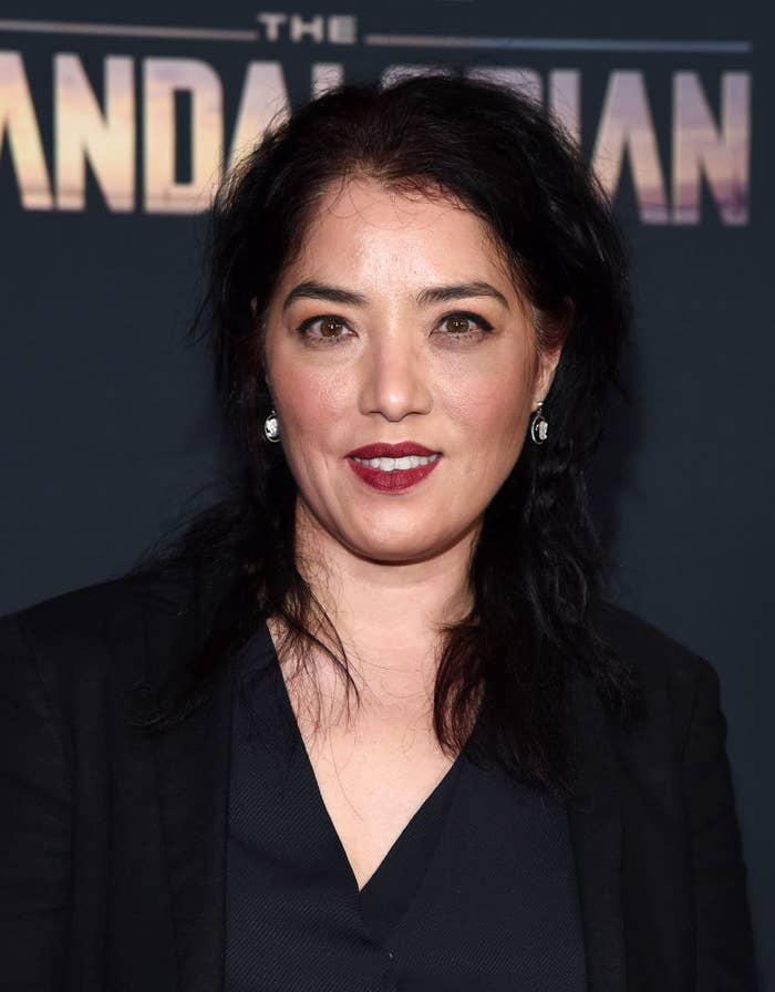 Deborah Chow on The Mandalorian red carpet