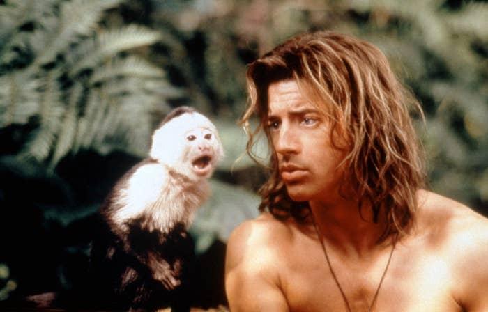 "Brendan Fraser in ""George of the Jungle"""