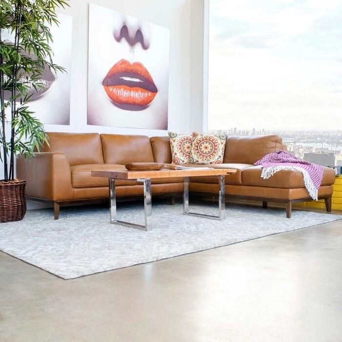 the caramel color sofa