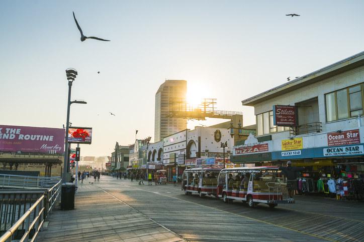 The Atlantic City boardwalk in New Jersey