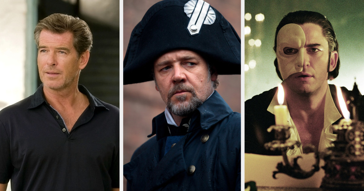 Sam in Mamma Mia!, Javert in Les Mis, and the Phantom in Phantom of the Opera