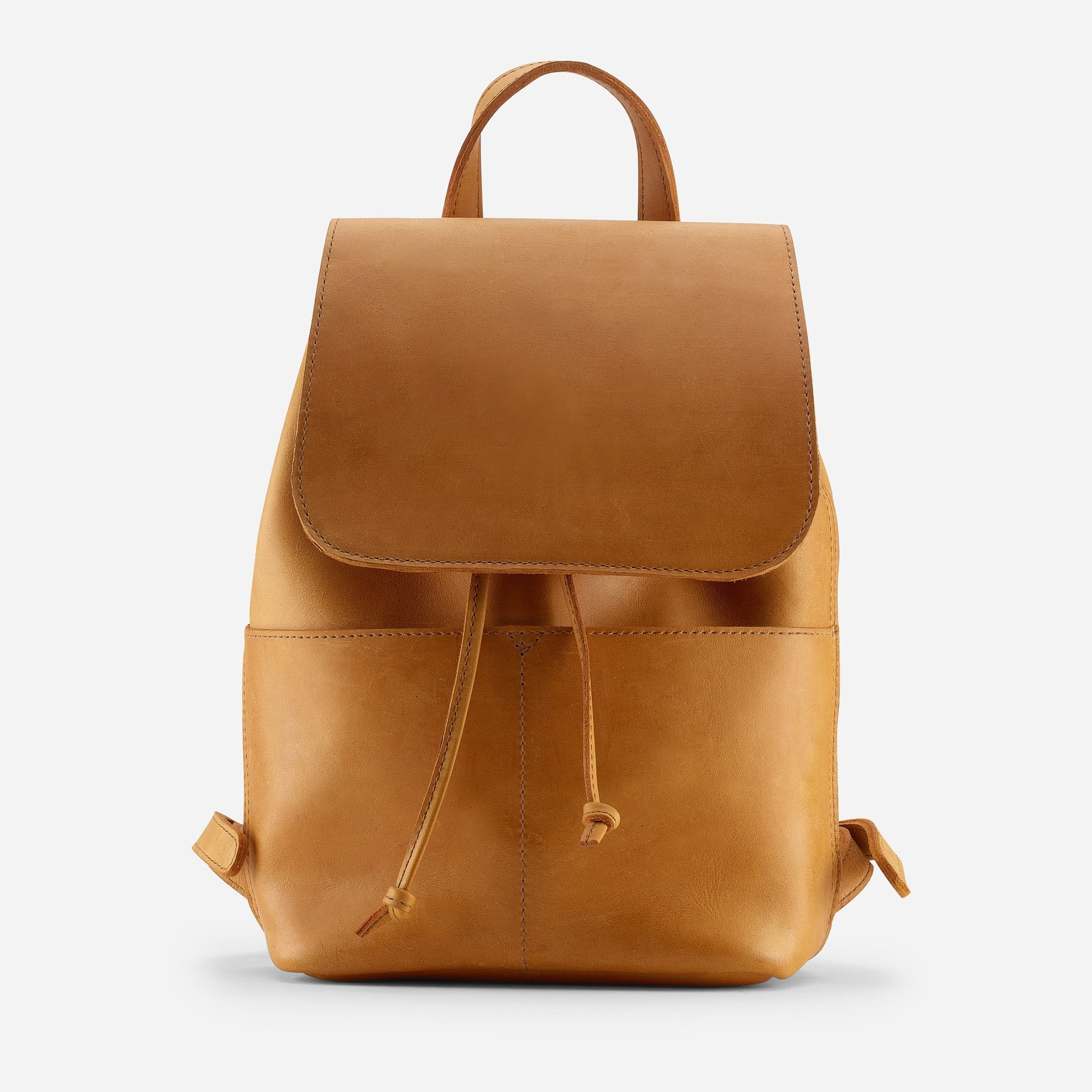 The neutral backpack with a flap over the front