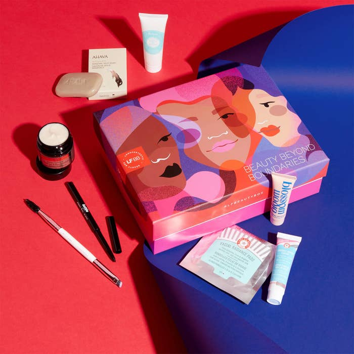 a different beauty box surrounded by products