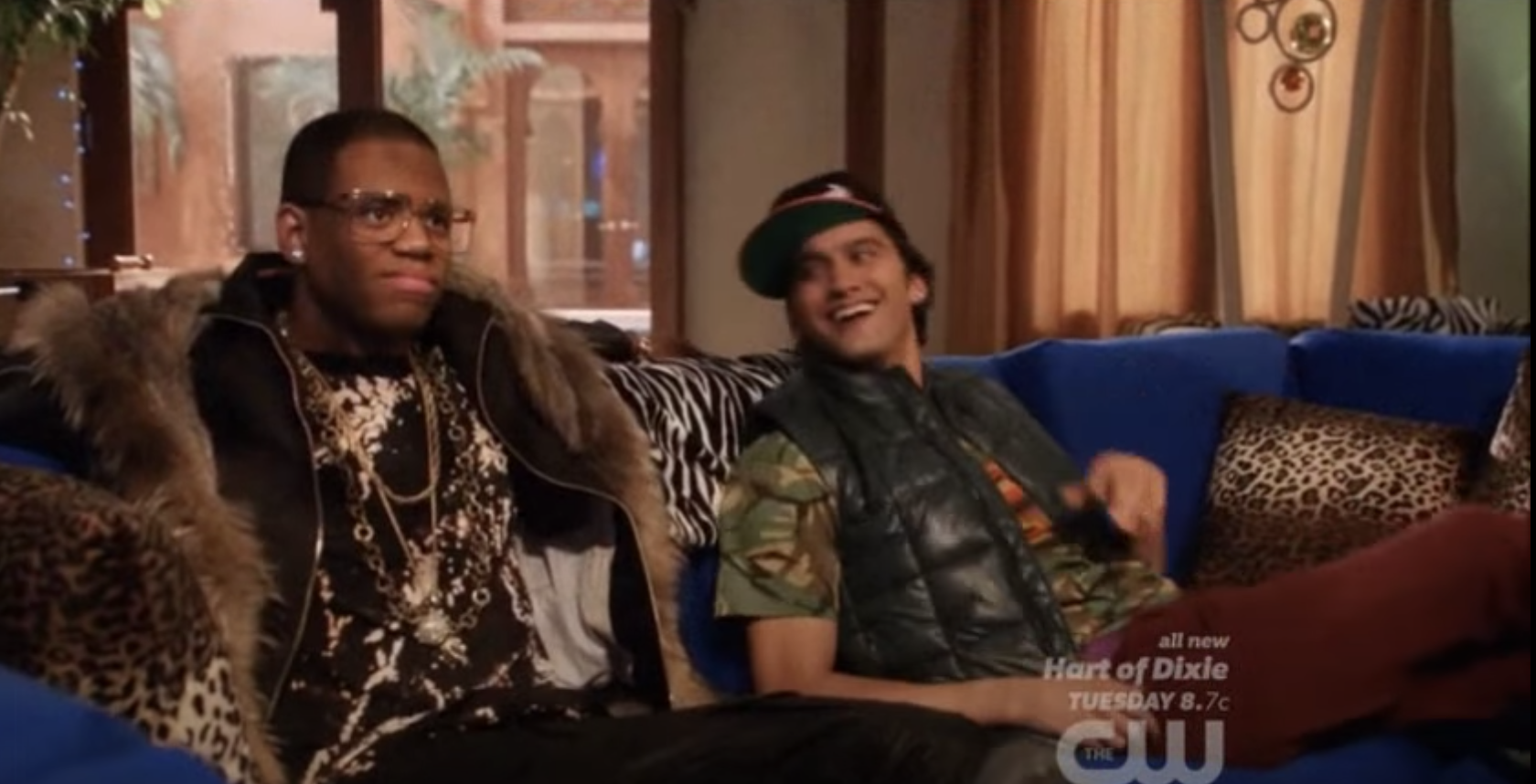 Dixom sitting on the couch with Navid