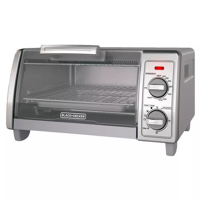 The Black+Decker toaster
