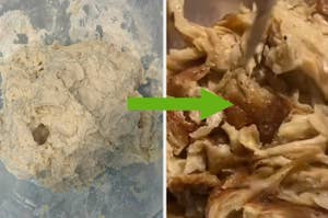 flour and water becomes chicken?