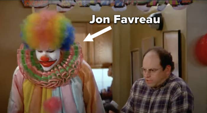 Jon as a clown next to George