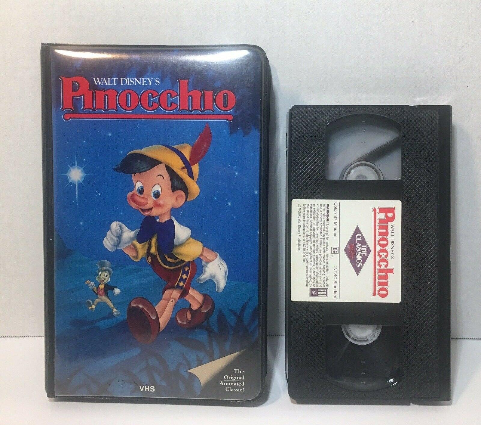 "A 1985 copy of ""Pinocchio"" VHS"