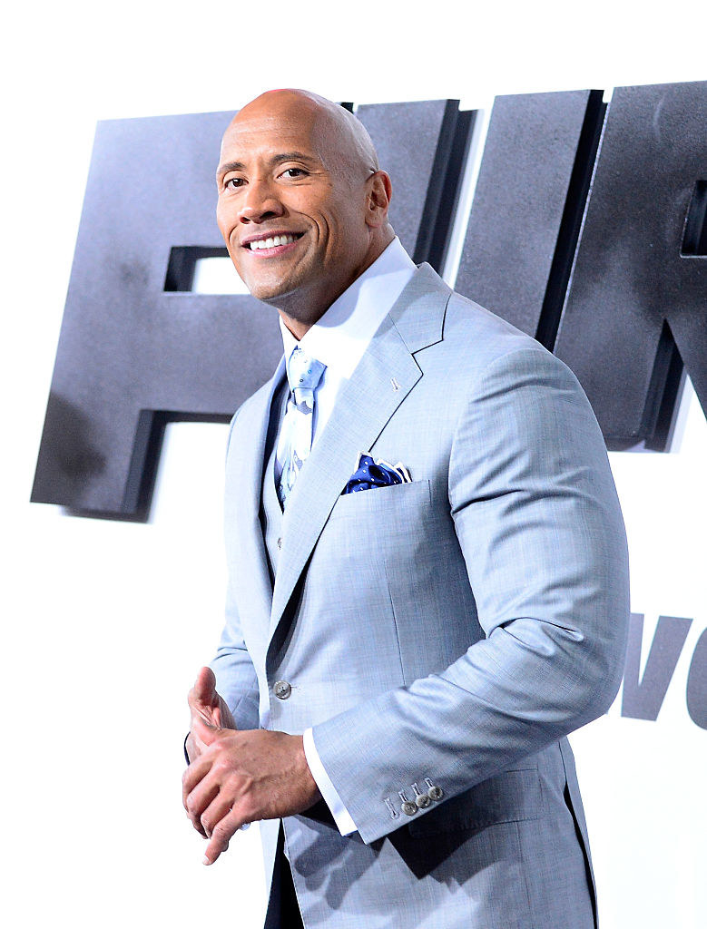 Dwayne Johnson arrives at Universal Pictures Premiere of 'Furious 7'' at the TLC Chinese Theatre, Hollywood, on April 1, 2015 in Los Angeles.CA