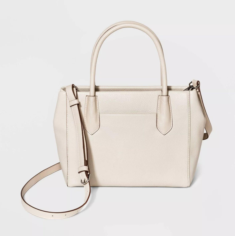 The bag in beige