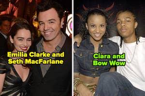 Emilia Clarke and Seth MacFarlane; Ciara and Bow Wow