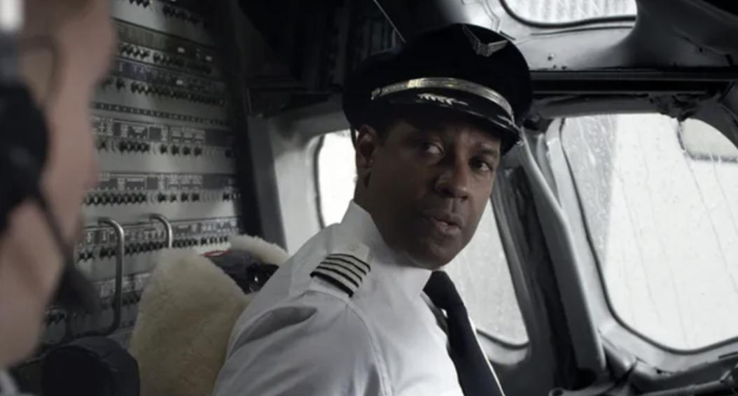 "Denzel Washington as a pilot in ""Flight"""