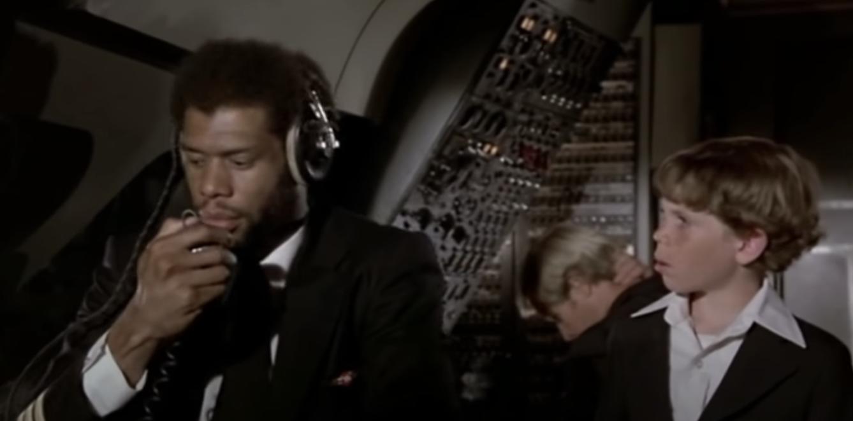 "Kareem Abdul-Jabbar as a pilot in ""Airplane!"""