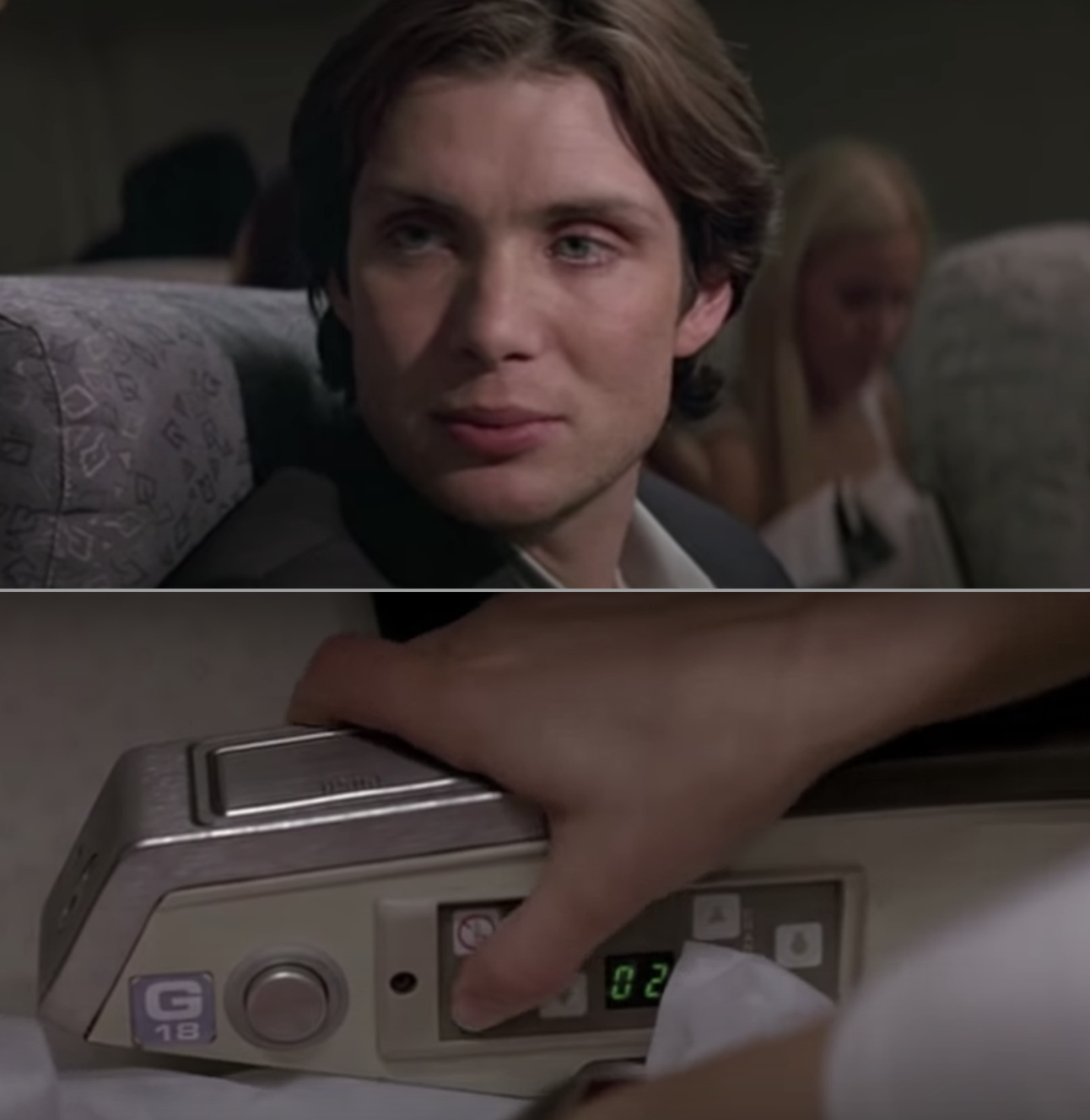 """Cillian Murphy and his perfect cheekbones in the movie """"Red Eye"""""""
