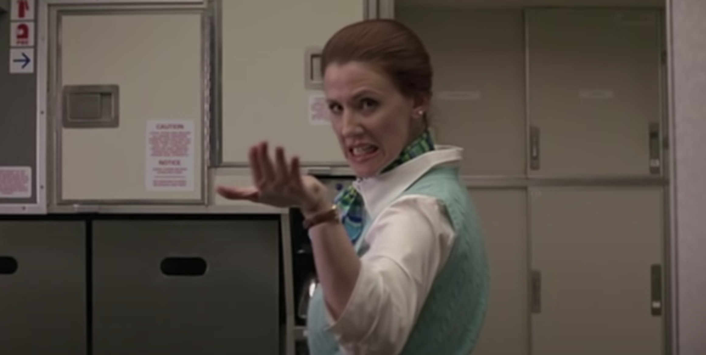 """A flight attendant getting annoying in the movie """"Red Eye"""""""