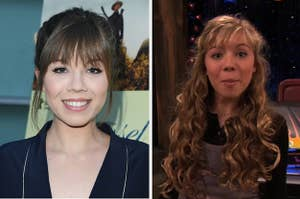 Jennette now side by side with a still of her as Sam from the show