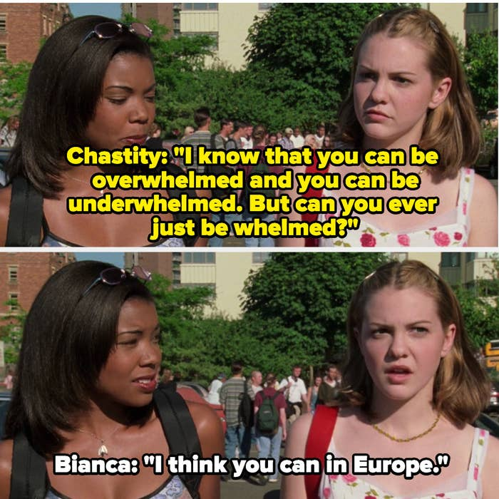 Bianca and Chastity have an exchange about being Underwhelmed/Overwhelmed
