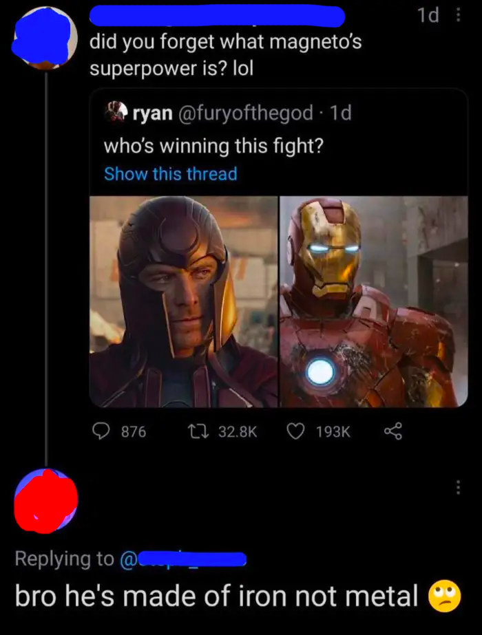 person who says iron man is made of iron not metal