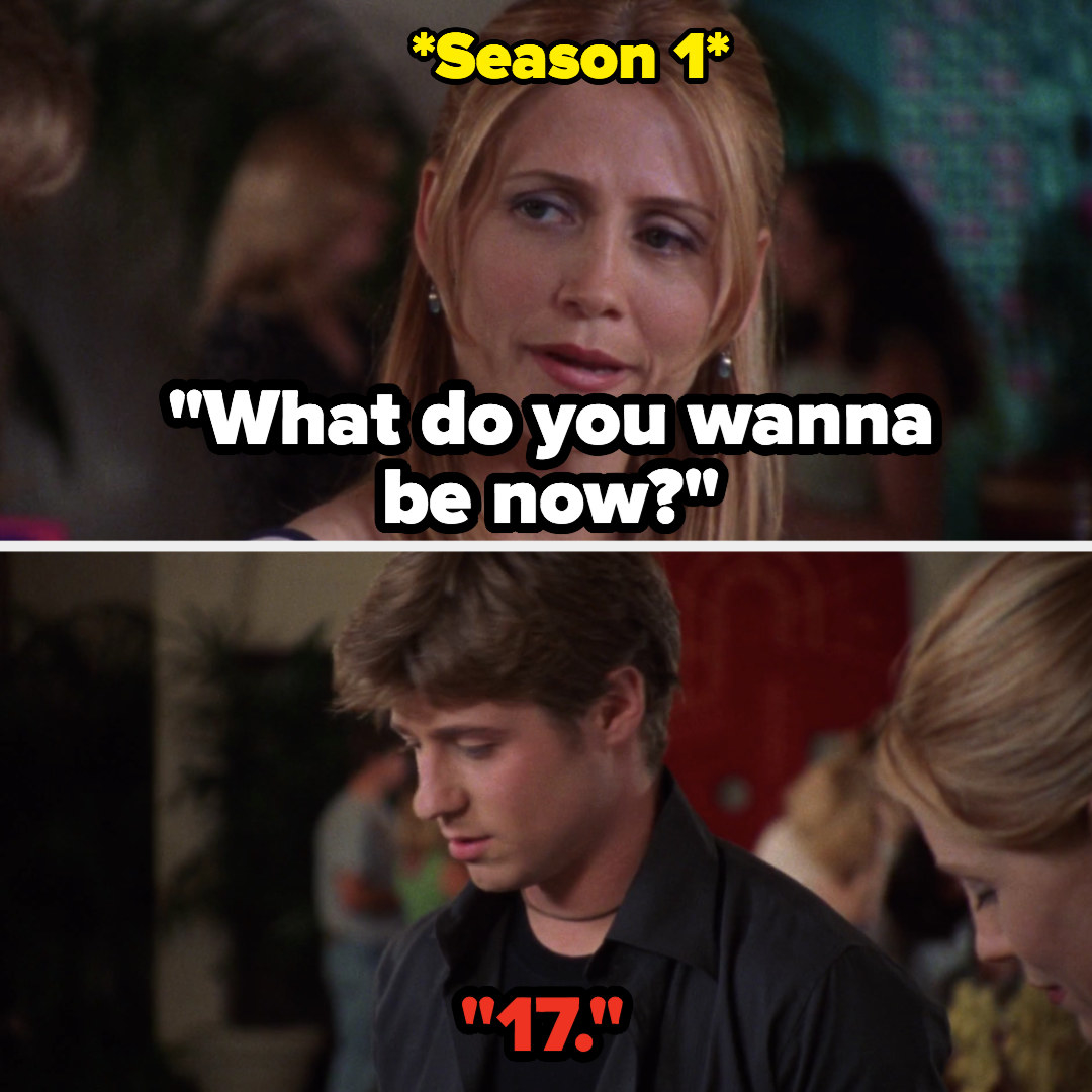In Season 1 Ryan says he just wants to be 17
