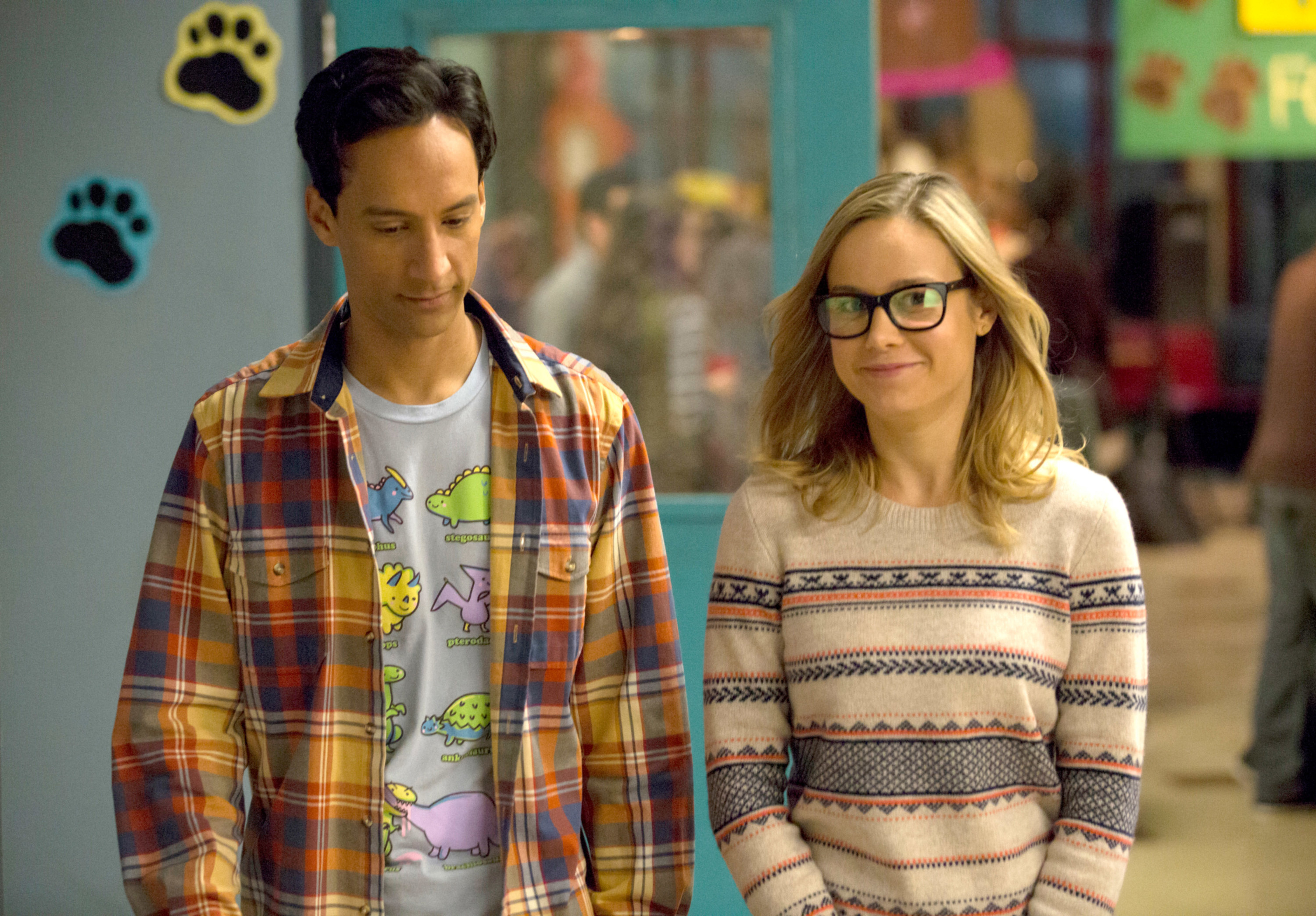 Brie next to Abed