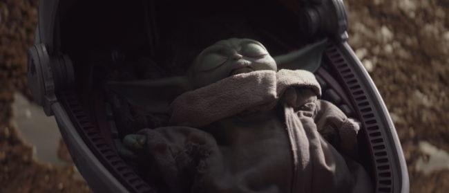Baby Yoda sleeping