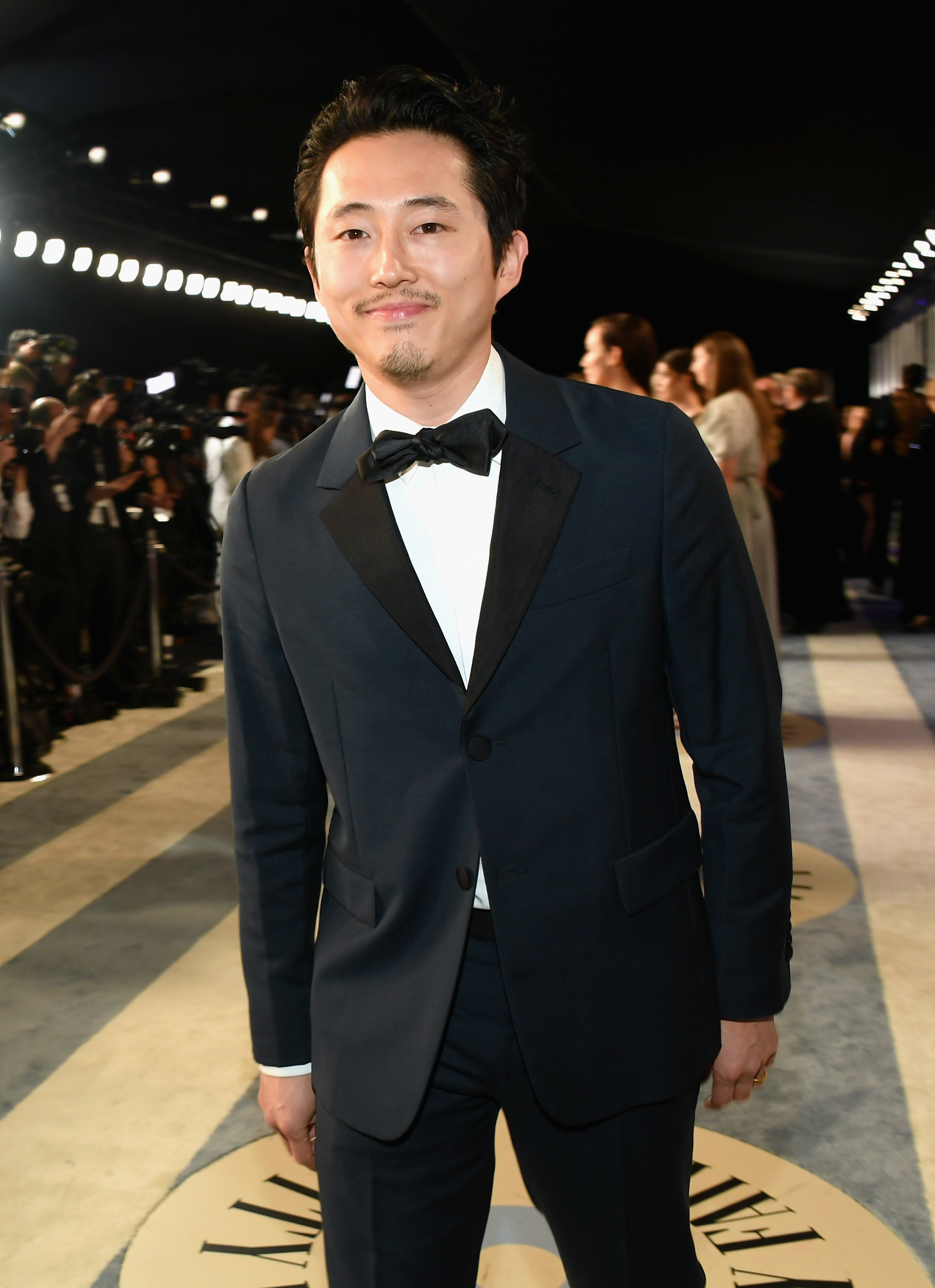 Steven Yeun at the Vanity Fair party in 2019