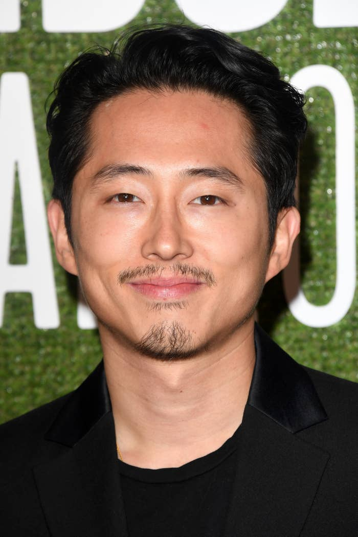 "Steven Yeun at the premiere of ""Burning"""