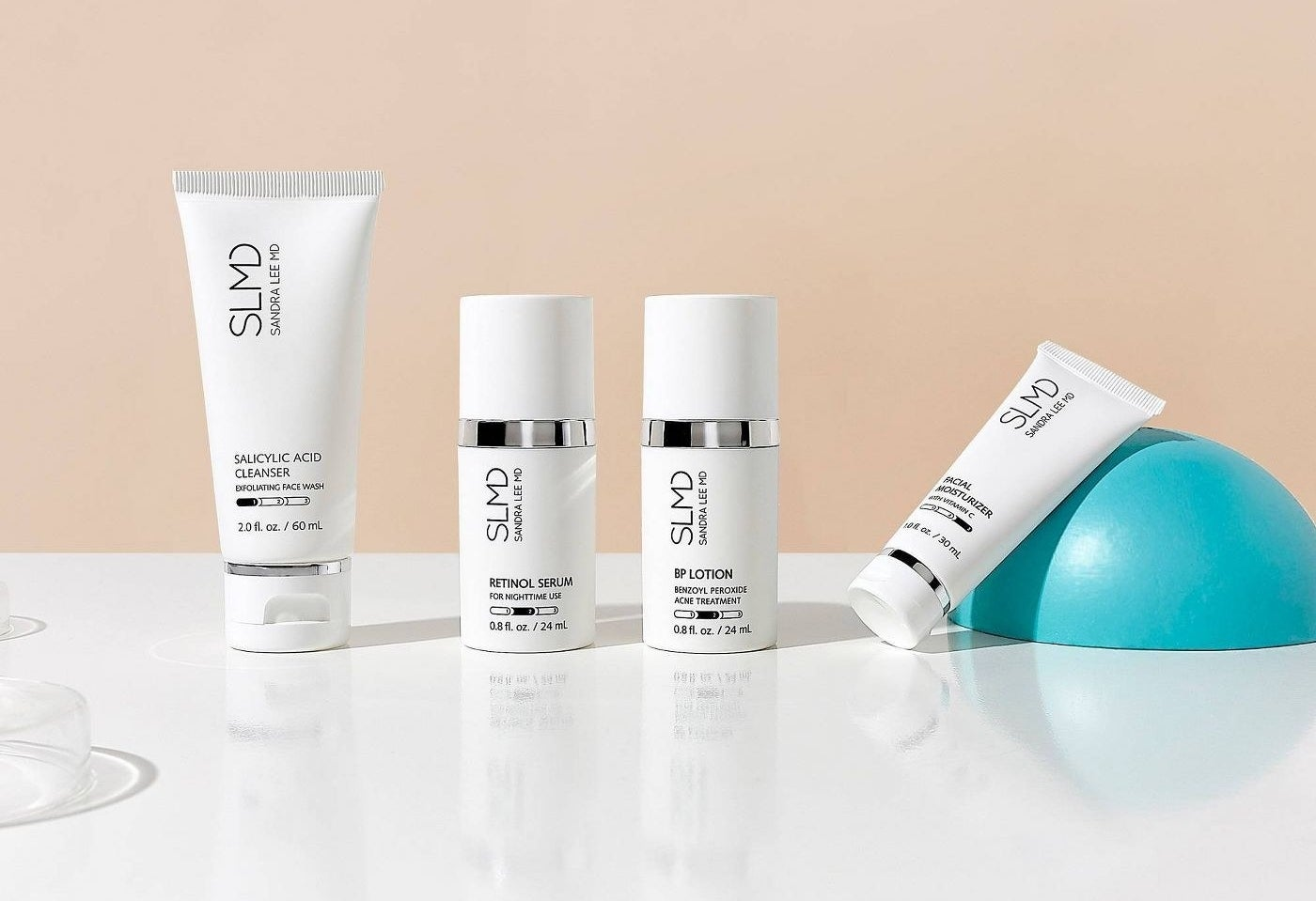 Four travel size acne products