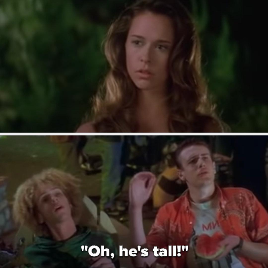 Jason tells Jennifer Love Hewitt's character that Preston is tall