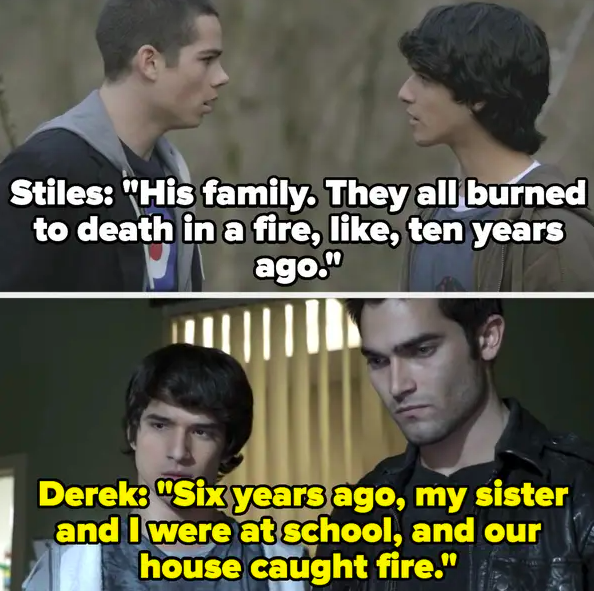 Stiles says the fire happened 10 years ago, Derek says it was six