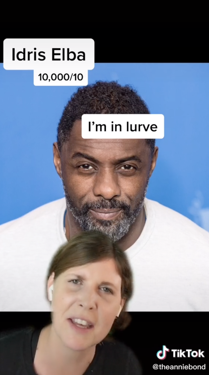 Annie rates Idris 10,000 out of 10 and that she's in lurve