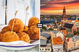 Arancini equals Riga Latvia