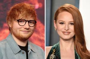 Ed Sheeran and Madelaine Petsch