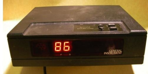 Black cable box with 86 flash in red