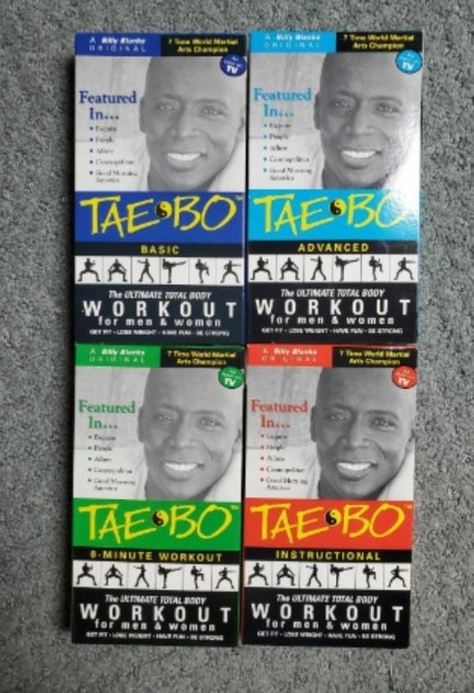 Four Tae Bo VHS tapes