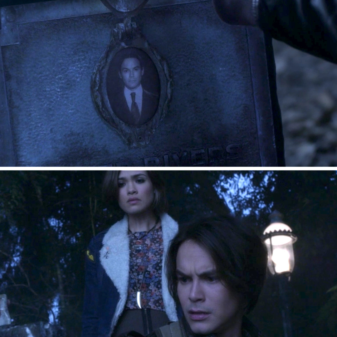 Caleb sees his own grave