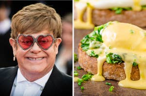 Elton John and hollandaise sauce