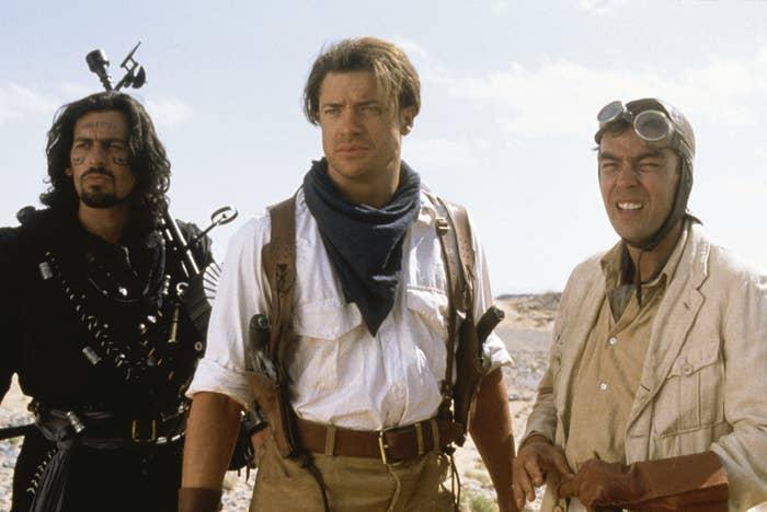 """Oded Fehr, Brendan Fraser, and John Hannah in """"The Mummy Returns"""""""