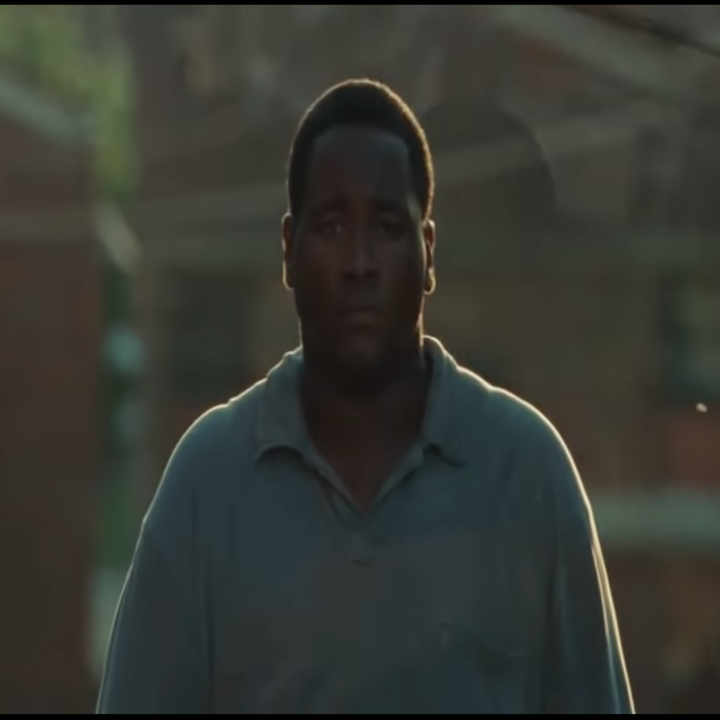 Michael Oher as portrayed by Quinton Aaron