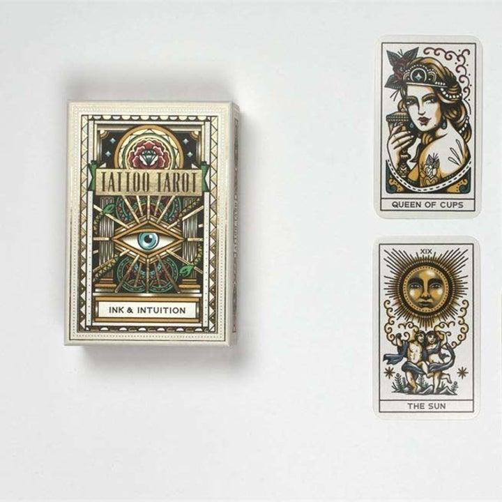 Deck with vintage tattoo illustrations